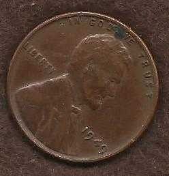 US Lincoln Type Wheat Cent Penny 1949 P