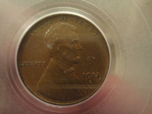 1914-S Lincoln Cent Almost Uncirculated-50 PCGS Great Eye Appeal For Grade!
