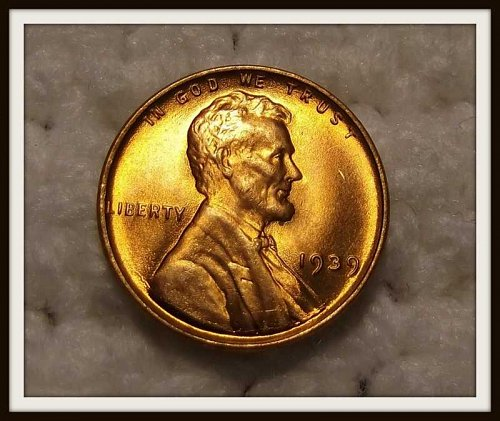 Red 1939 - P BU Lincoln Wheat Cent