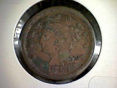 1848 P Braided Hair Liberty Head Large Cent