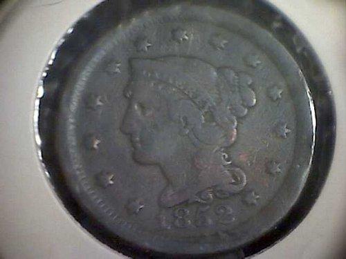 1852-P Braided Hair Liberty Head Large Cent