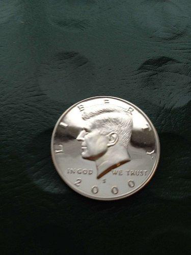 2000-S  Deep Cameo Gem Proof  Kennedy  $0.50  piece;  BV $6+