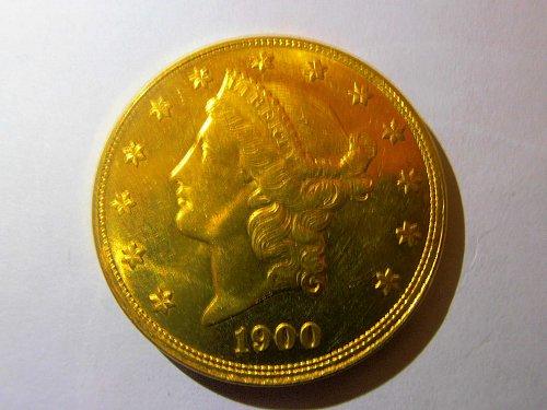 1900 s Liberty Head Double Eagle $20 Twenty Dollar Gold Coin