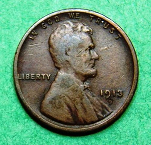 1913 D Lincoln Wheat Cent