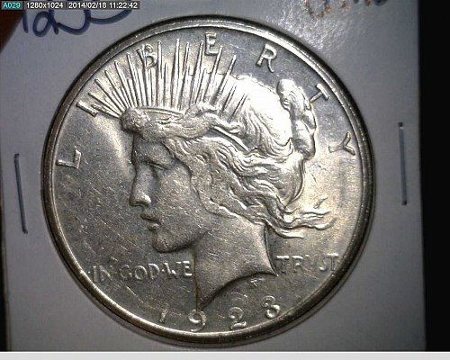 1923 S Peace Dollar Excellent Condition