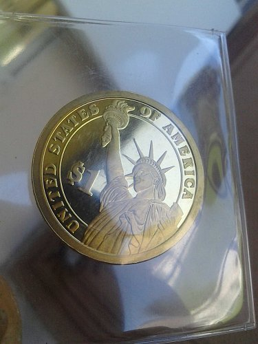 2007 S Mint First Presidential gold dollar