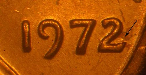 1972 1c WDDO-020 2/2 Variety Full BU Red