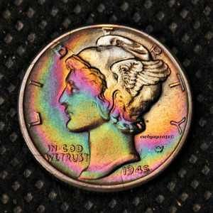 1945 D Mint - winged liberty 10c piece +++ 90% silver
