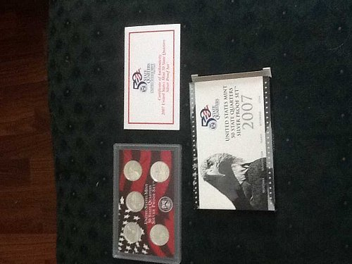 2007 Silver US state quarter proof set