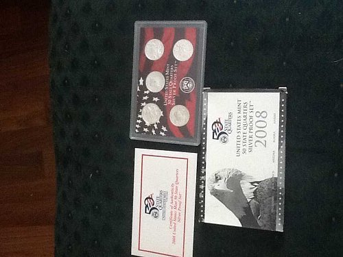 2008 silver US State Quarter proof set