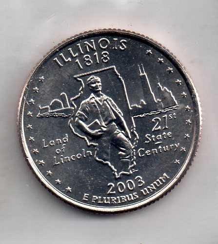 2003 D BU Illinois Washington Quarter #4
