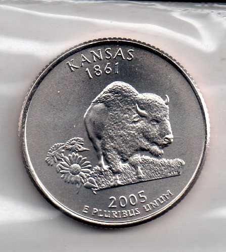 2005 D BU Kansas Washington Quarter #3