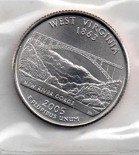 2005 D BU West Virginia Washington Quarter #3