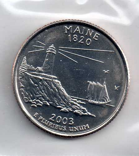 2003 P Maine Washington Quarters #3