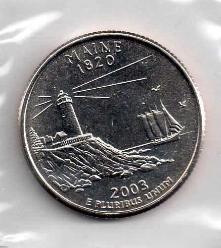 2003 P BU Maine Washington Quarter #4