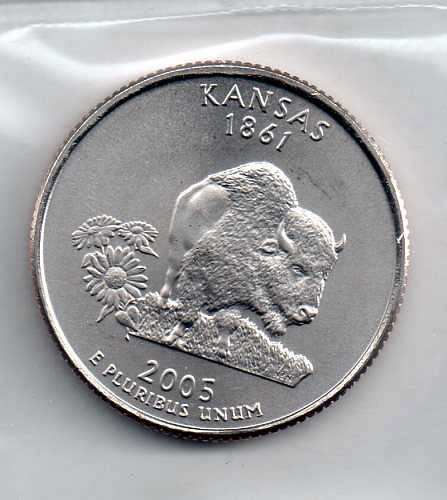 2005 P BU Kansas Washington Quarter #3
