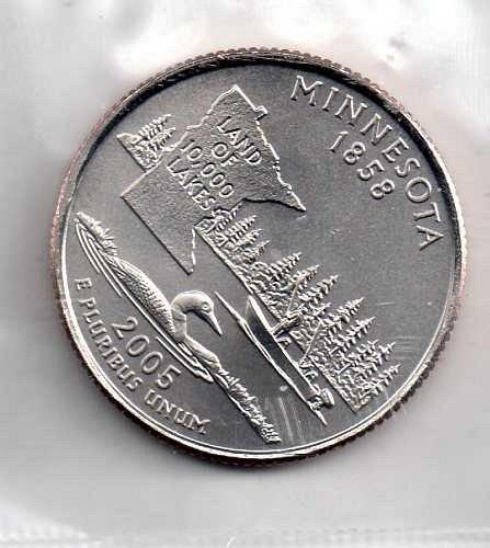 2005 P BU Minnesota Washington Quarter #3
