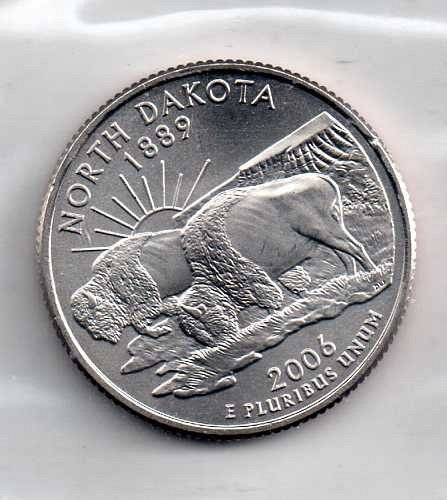 2006 P BU North Dakota Washington Quarter #3