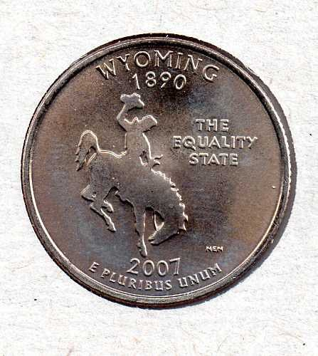 2007 D BU Wyoming Washington Quarter #3