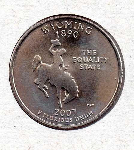 2007 D BU Wyoming Washington Quarter #3