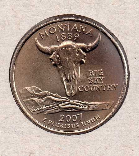 2007 D BU Montana Washington Quarter #3