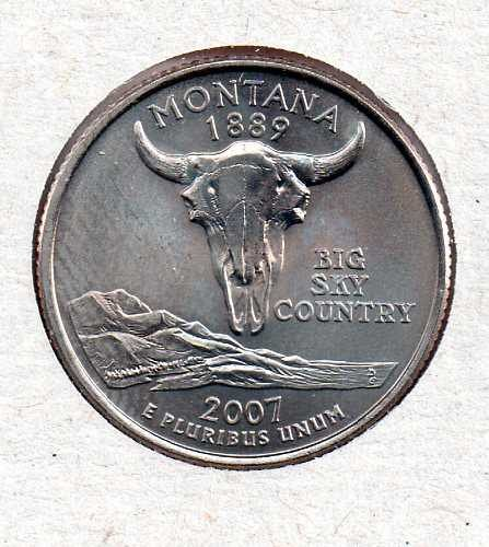 2007 P BU Montana Washington Quarter #4