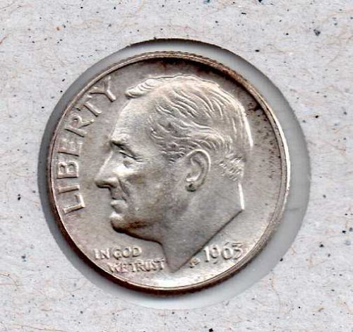 1963 D Roosevelt Dime