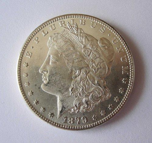 1879-S Morgan Silver Dollar BU