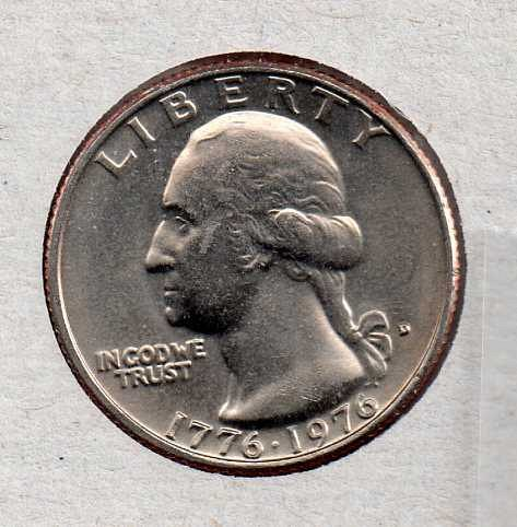 1976 D BU Washington Quarter #3