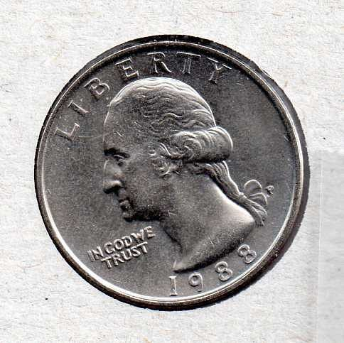 1988 P BU Washington Quarter #3