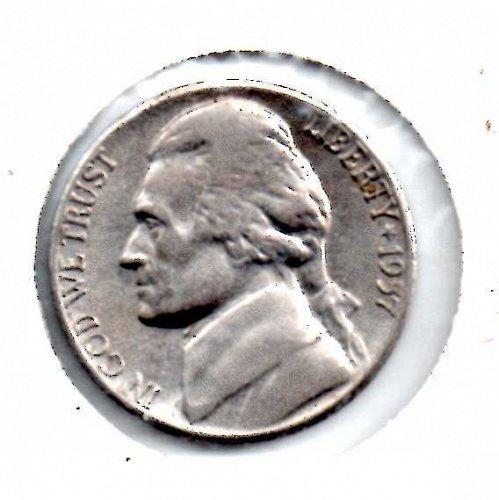 1957d Jefferson Nickel #3