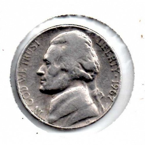1967p Jefferson Nickel #3