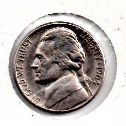 1964d Jefferson Nickel #3