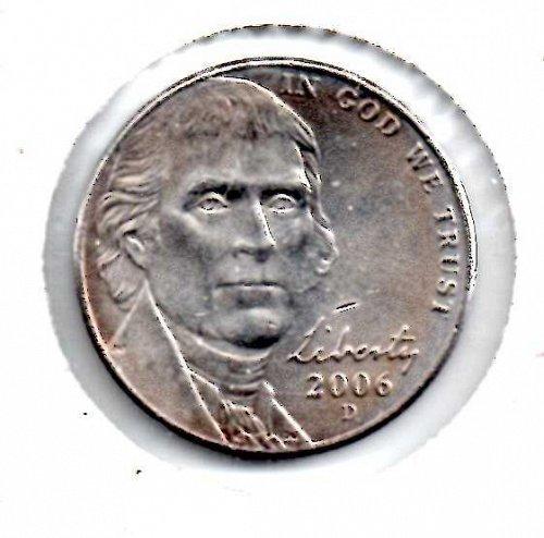 2006d Jefferson Nickel #3