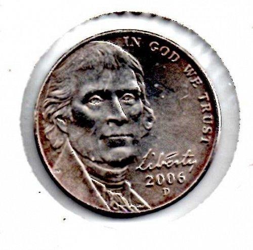 2006d Jefferson Nickel #4