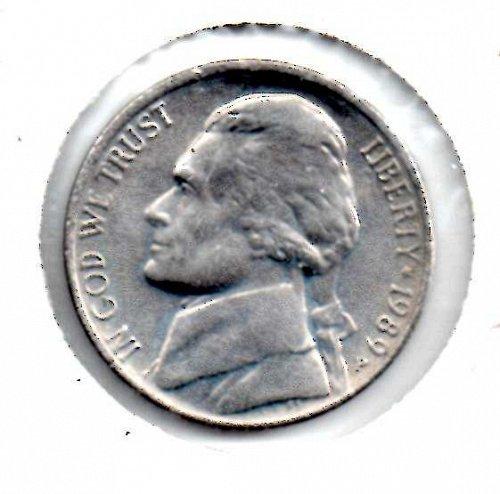 1989p Jefferson Nickel #3