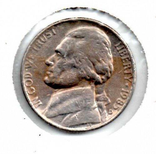 1985d Jefferson Nickel #3