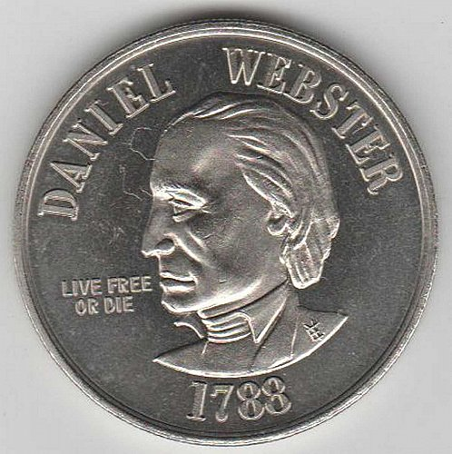 1788 DANIEL WEBSTER (Live free or Died) FROM STATE OF NEW HAMPSHIRE (1776)