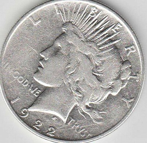 1922 BEAUTIFUL SILVER PEACE DOLLAR MINTED IN PHILADELPHIA (CIRCULATED)