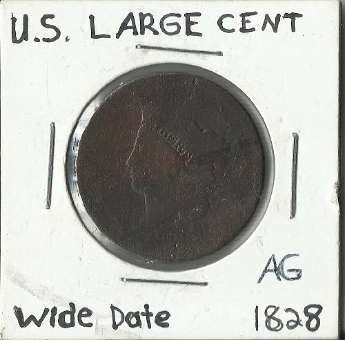 U.S. LARGE CENT 1828 WIDE DATE AG-3
