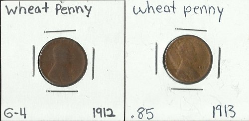 1912 & 1913 WHEAT PENNY G-4