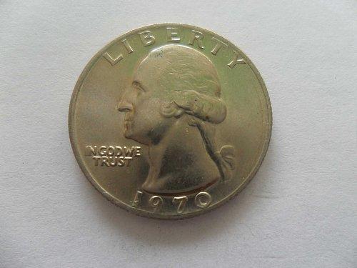 1970 25c Washington Quarter