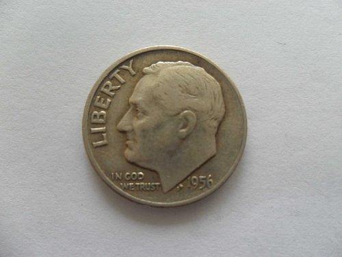 1956-D 10C  Roosevelt Dime