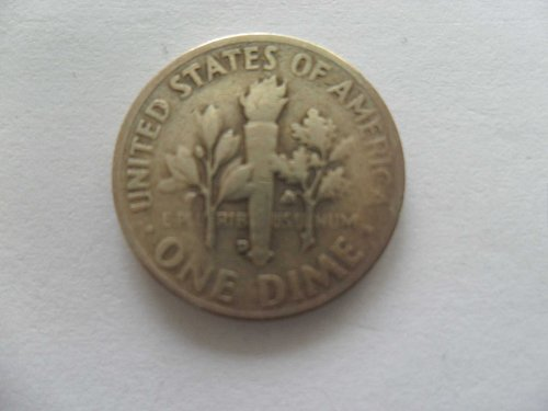 1954-D 10C  Roosevelt Dime