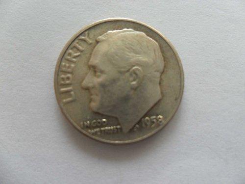 1958 10C  Roosevelt Dime