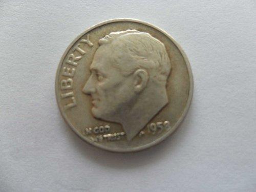 1958-D 10C  Roosevelt Dime