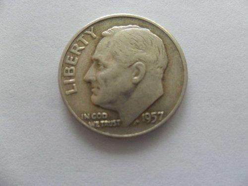 1957-D 10C  Roosevelt Dime