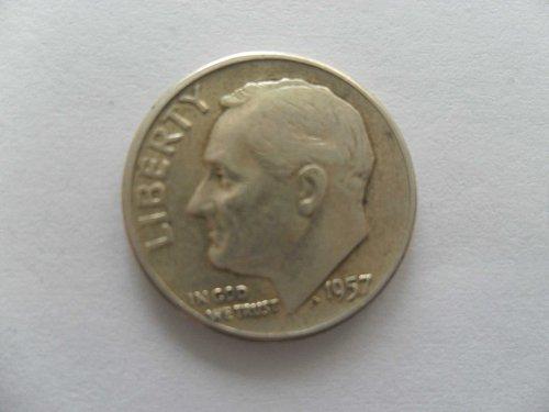 1957 10C  Roosevelt Dime