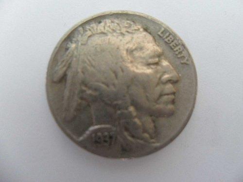 1937 5C Buffalo Nickel , five cents