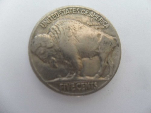 1937 5C Buffalo Nickel , five cents